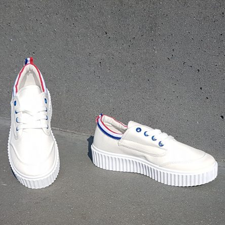 White Tri-color Creeper Sole